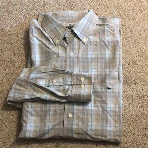 Lacoste Button Front Plaid Shirt